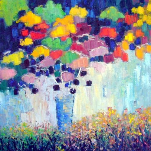 Pluie de couleurs 36x36
