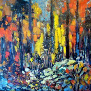 Cascades en automne 36x36
